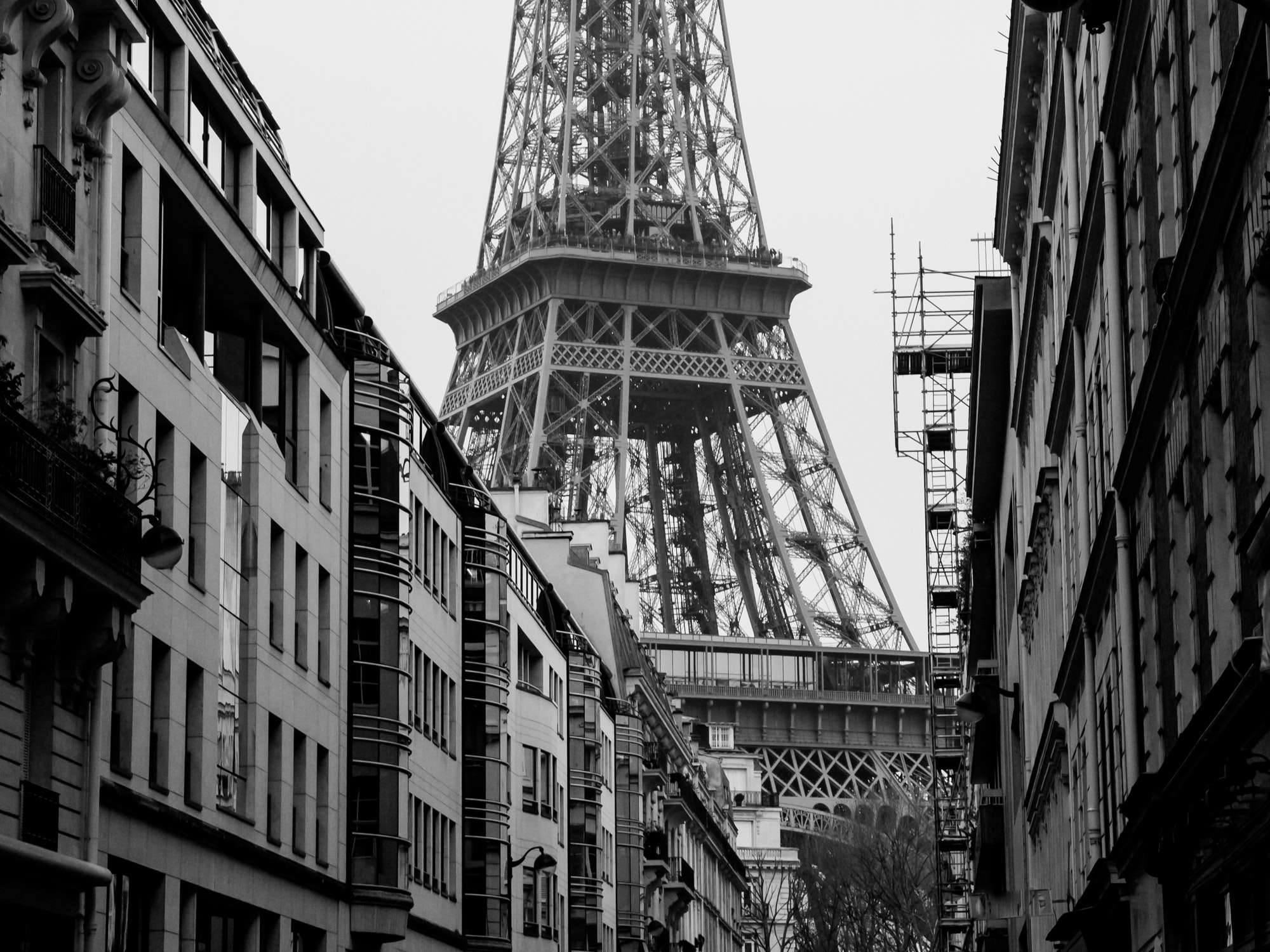 View toward the Eiffel Tower in France